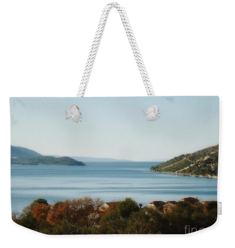 Linda De La Rosa Weekender Tote Bag featuring the photograph Meditate by De La Rosa Concert Photography