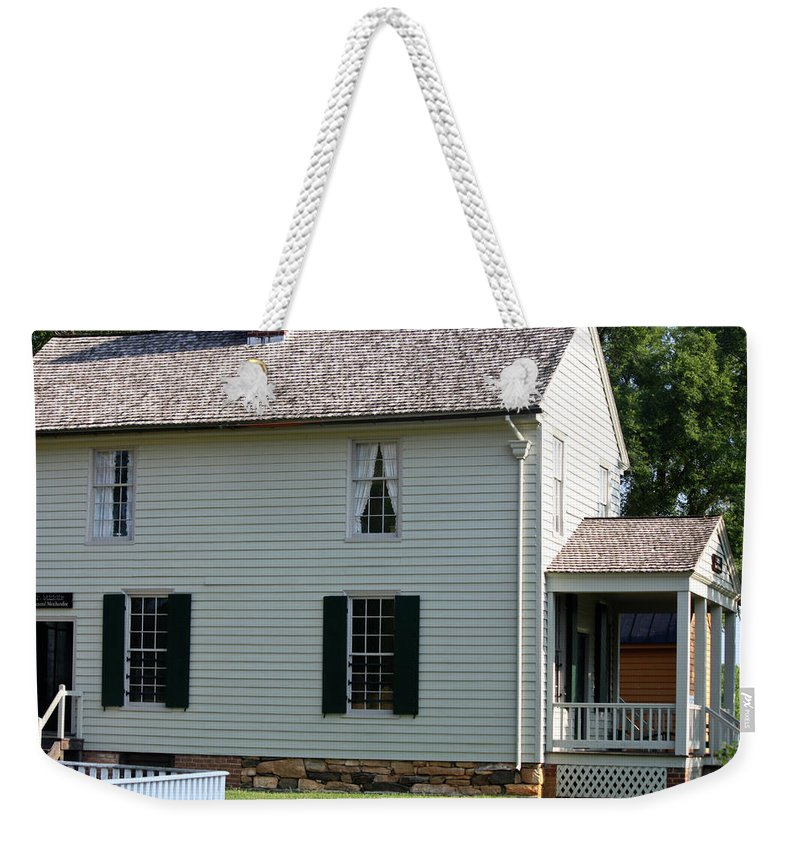 Appomattox Weekender Tote Bag featuring the photograph Meeks Store Appomattox Court House Virginia by Teresa Mucha