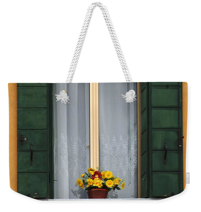 Window Weekender Tote Bag featuring the photograph Mellow Yellow by Bob Christopher