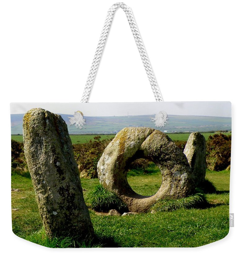 Ancient Site Weekender Tote Bag featuring the photograph Men An Tol by Lainie Wrightson