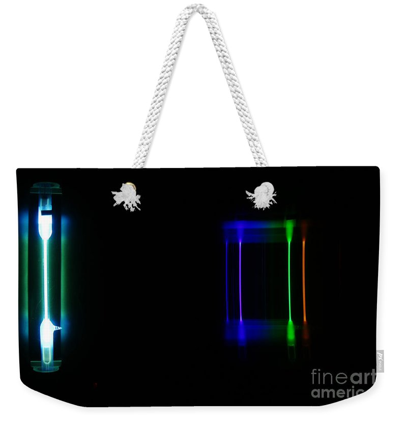 Atomic Weekender Tote Bag featuring the photograph Mercury Spectra by Ted Kinsman