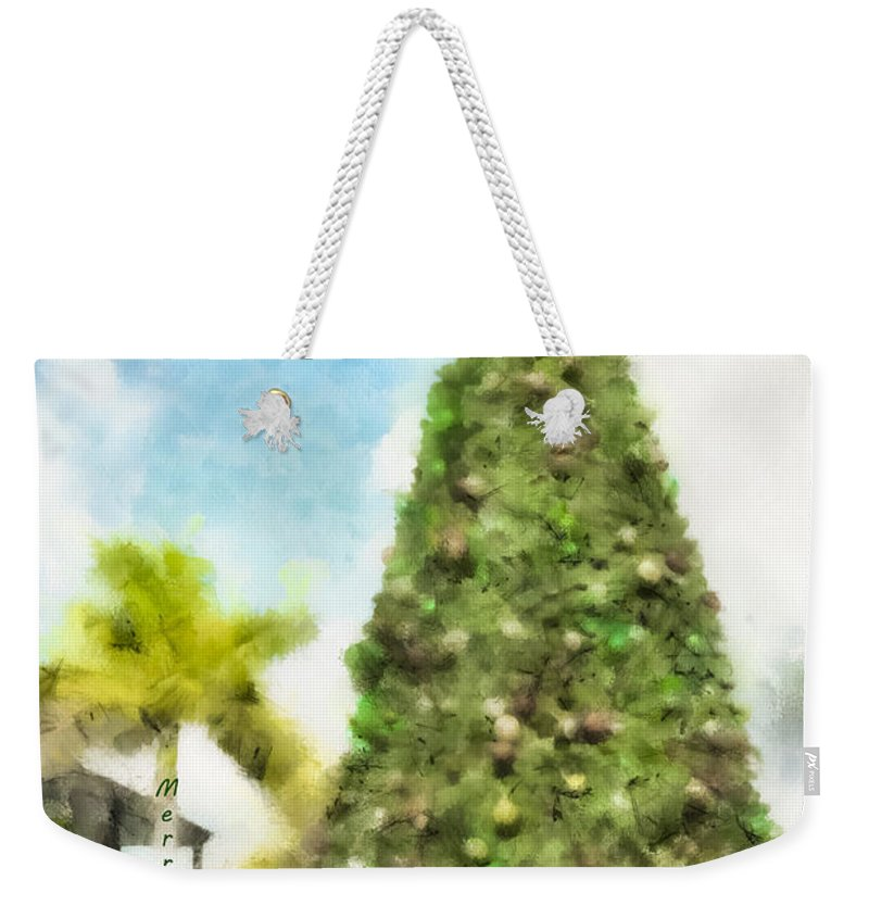 Tree Weekender Tote Bag featuring the photograph Merry Christmas Tree 2012 by Trish Tritz