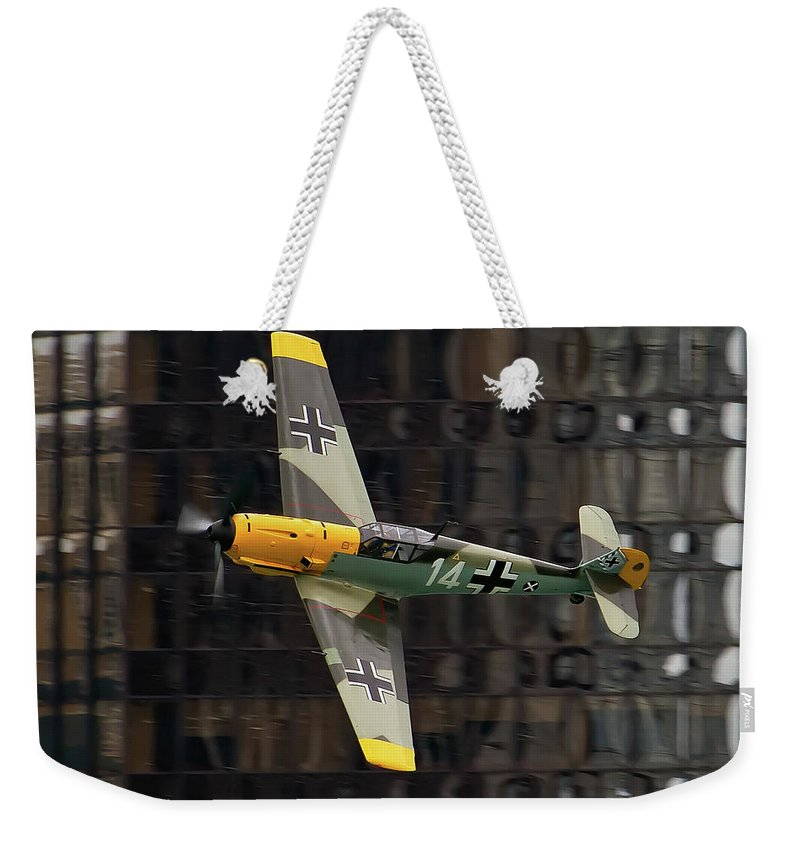 Aircraft Weekender Tote Bag featuring the photograph Messerschmitt by Bill Lindsay