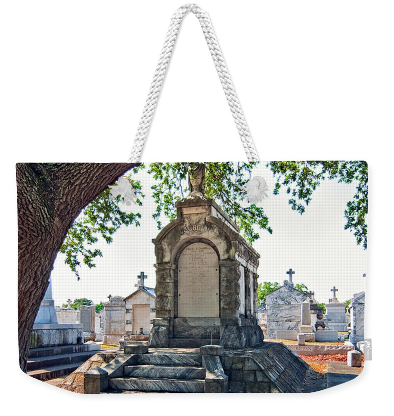 Metairie Cemetery Weekender Tote Bag featuring the photograph Metairie Cemetery by Steve Harrington