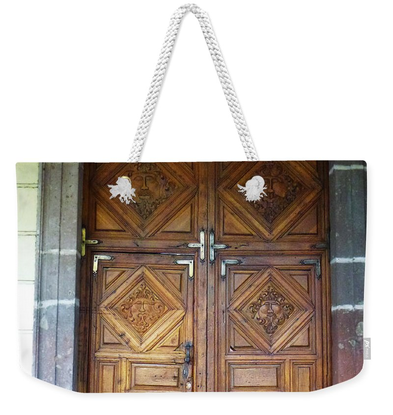 North America Weekender Tote Bag featuring the photograph Mexican Door 29 by Xueling Zou
