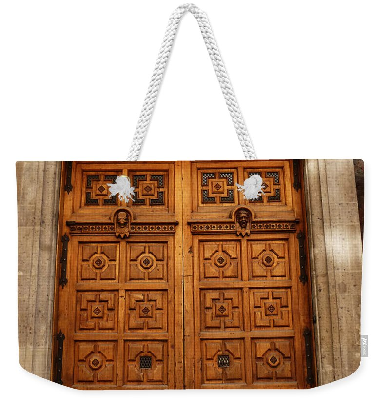 Mexico Weekender Tote Bag featuring the photograph Mexican Door 67 by Xueling Zou