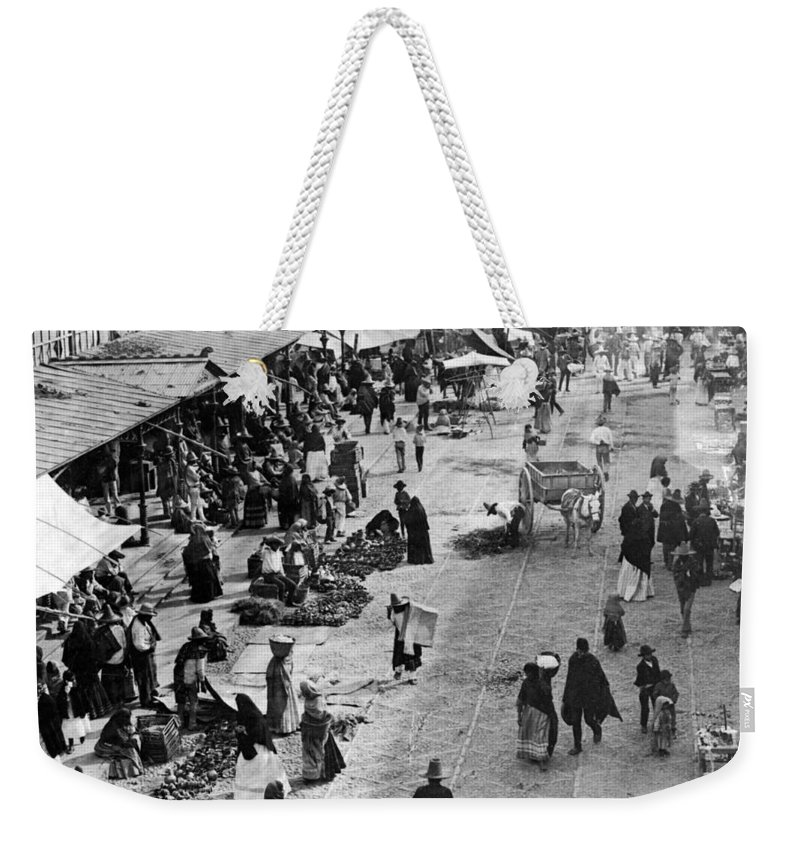 mexico City Weekender Tote Bag featuring the photograph Mexico City - C 1901 by International Images