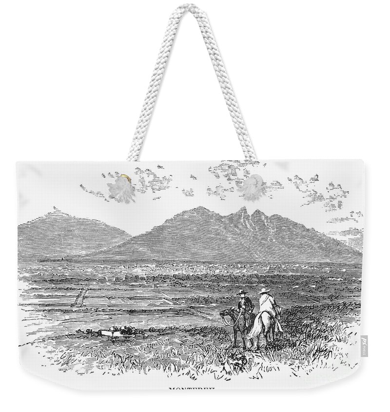 1846 Weekender Tote Bag featuring the photograph Mexico: Monterrey, C1846 by Granger