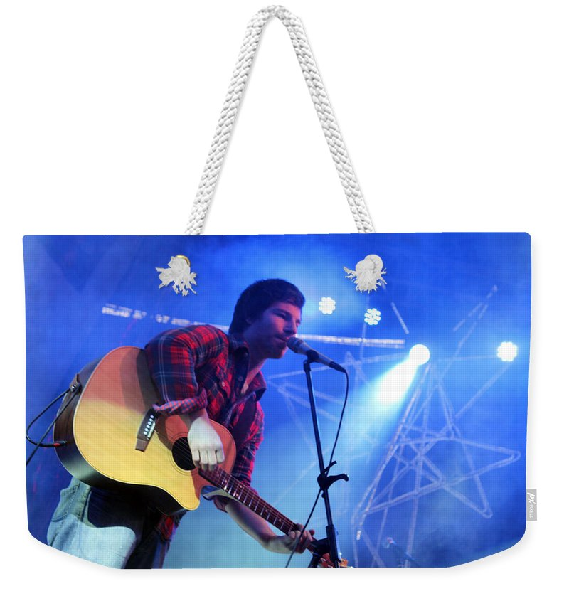 Michael Weekender Tote Bag featuring the photograph Michael Hartenberger by Munir Alawi