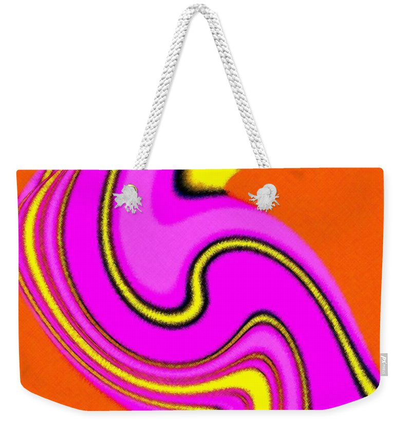 Micro Linear Weekender Tote Bag featuring the digital art Micro Linear 23 by Will Borden