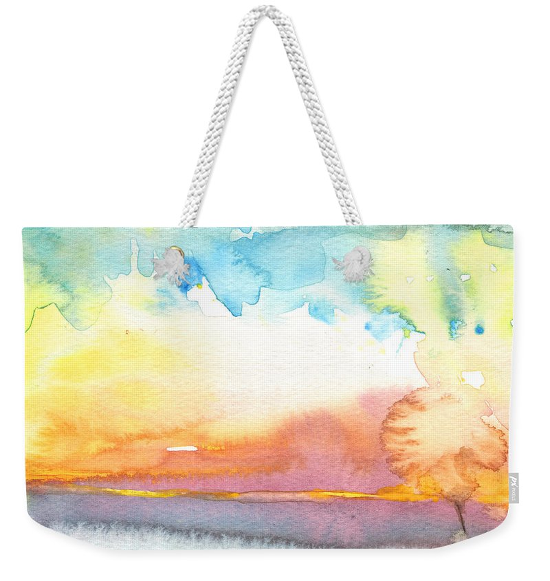 Watercolour Weekender Tote Bag featuring the painting Midday 26 by Miki De Goodaboom