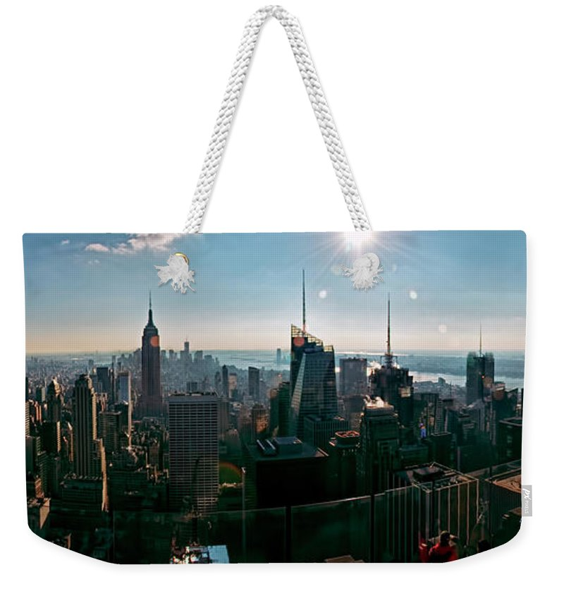 Panoramic Weekender Tote Bag featuring the photograph Midtown South by S Paul Sahm