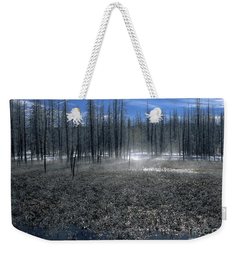 Bronstein Weekender Tote Bag featuring the photograph Midway Geyser Area by Sandra Bronstein