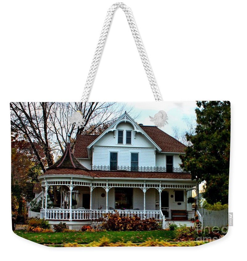 House Weekender Tote Bag featuring the photograph Midwest Victorian by Tommy Anderson