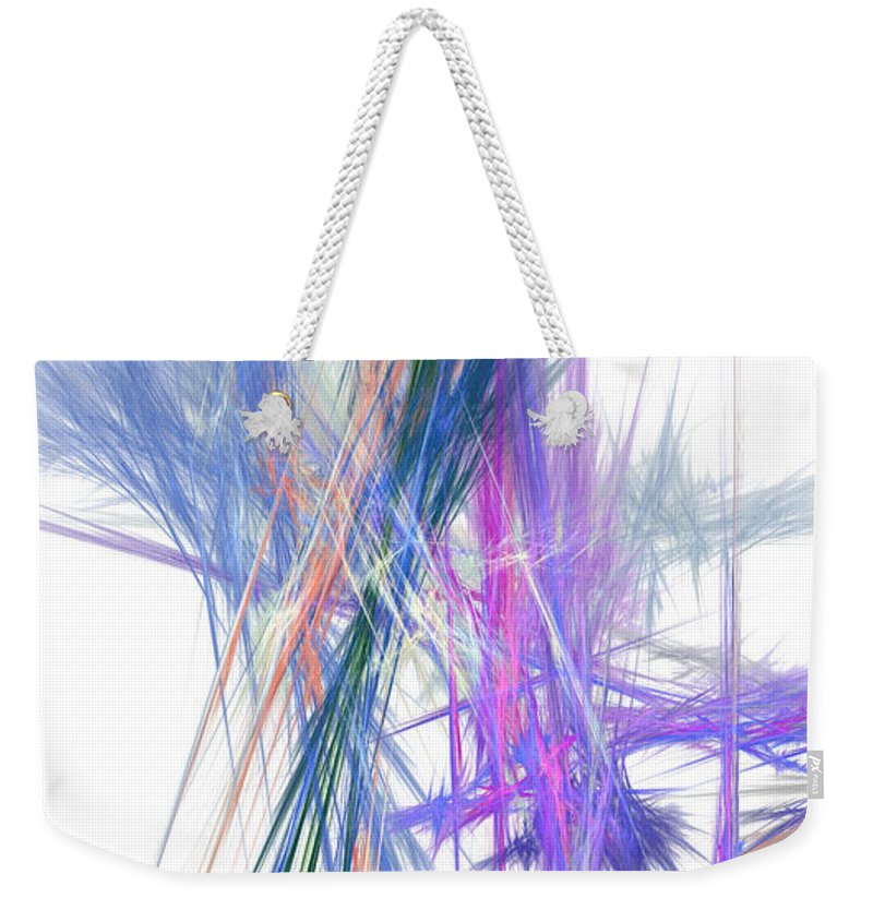 Abstract Weekender Tote Bag featuring the digital art Mikado-b by RochVanh