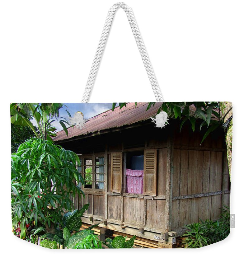 Architecture Weekender Tote Bag featuring the photograph Minahasa Traditional Home 1 by Mark Sellers