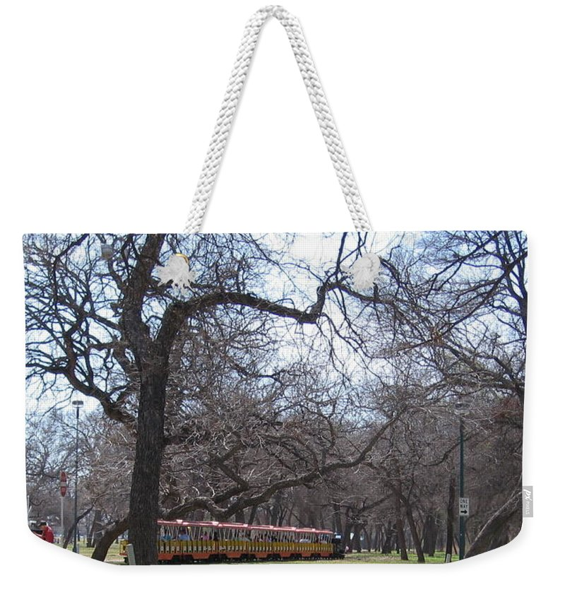 Mini Train Weekender Tote Bag featuring the photograph Mini Train by Amy Hosp