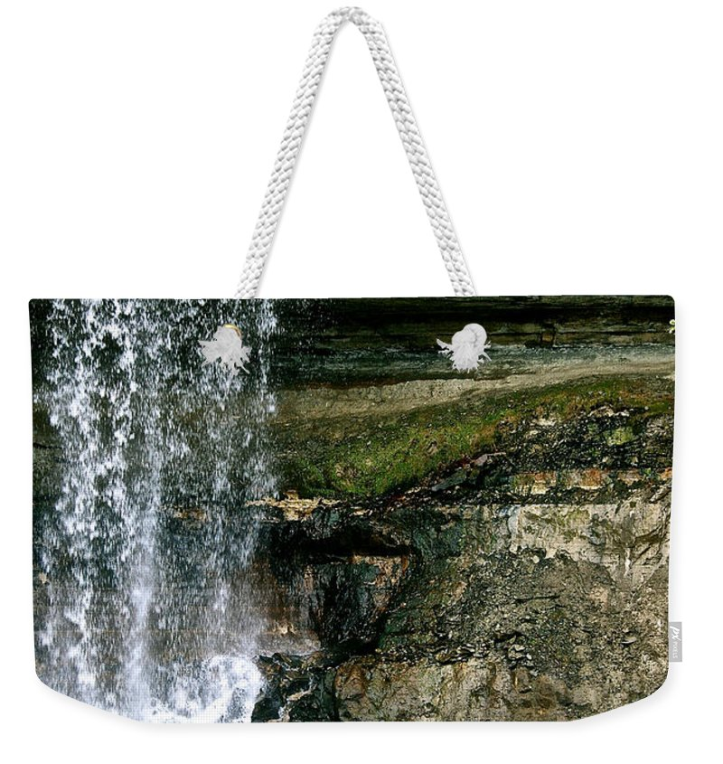 Water Weekender Tote Bag featuring the photograph Minnehaha Falls by Susan Herber