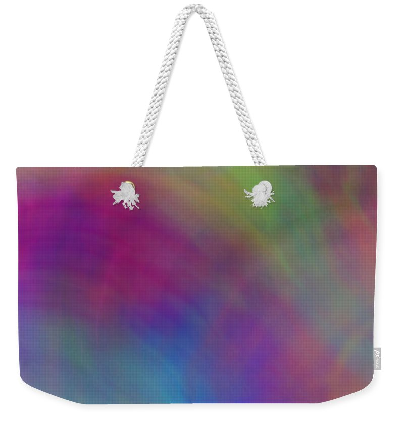 Abstract Weekender Tote Bag featuring the digital art Mirage Of Color by Christy Leigh