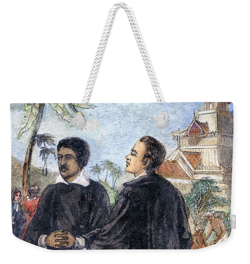 19th Century Weekender Tote Bag featuring the photograph Missionaries: Baptism by Granger