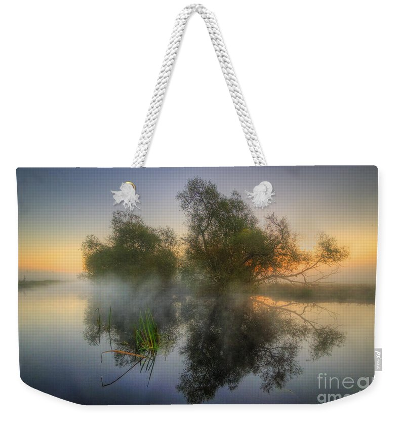 Hdr Weekender Tote Bag featuring the photograph Misty Dawn 2.0 by Yhun Suarez