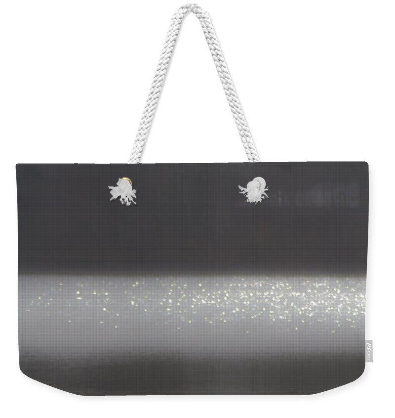 Misty Weekender Tote Bag featuring the photograph Misty Morning by Bill Lindsay