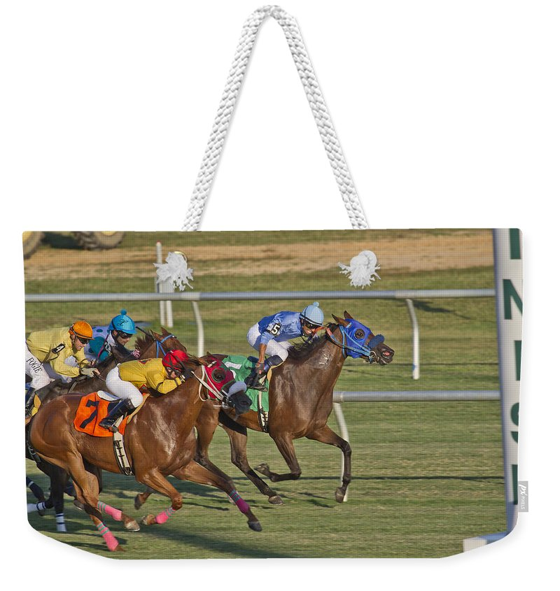 Horse Weekender Tote Bag featuring the photograph Moments by Betsy Knapp