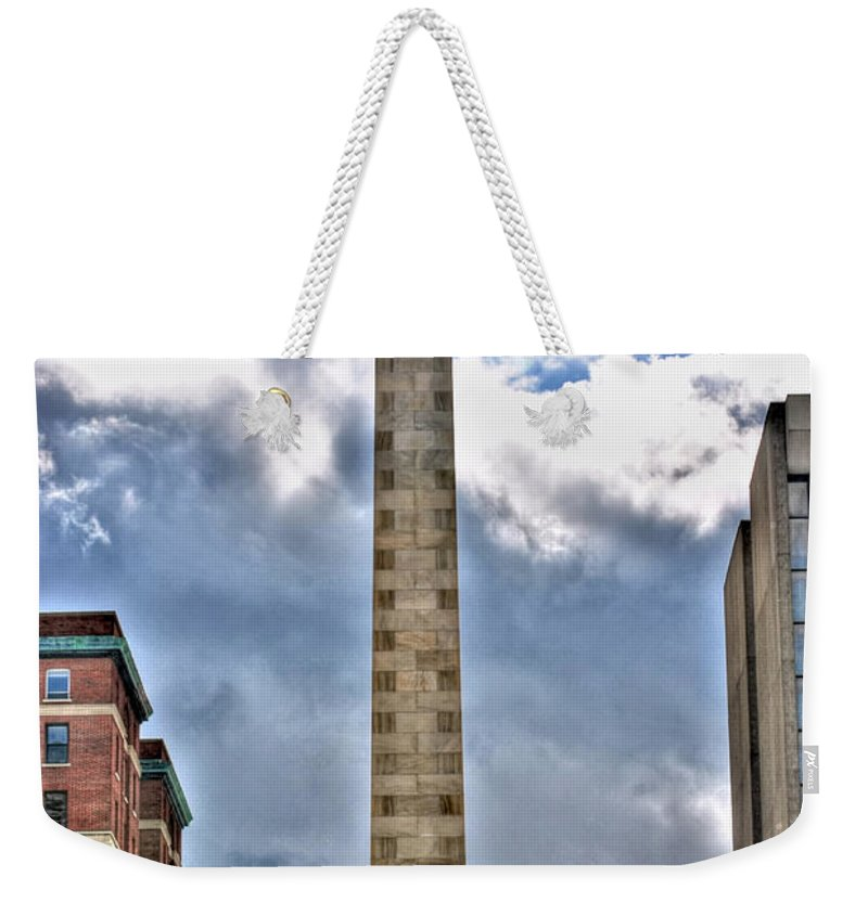 Weekender Tote Bag featuring the photograph Monument by Michael Frank Jr