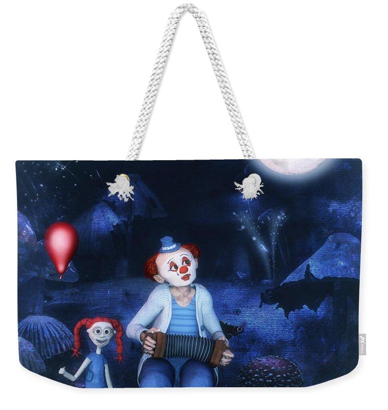 3d Weekender Tote Bag featuring the digital art Moon Song by Jutta Maria Pusl