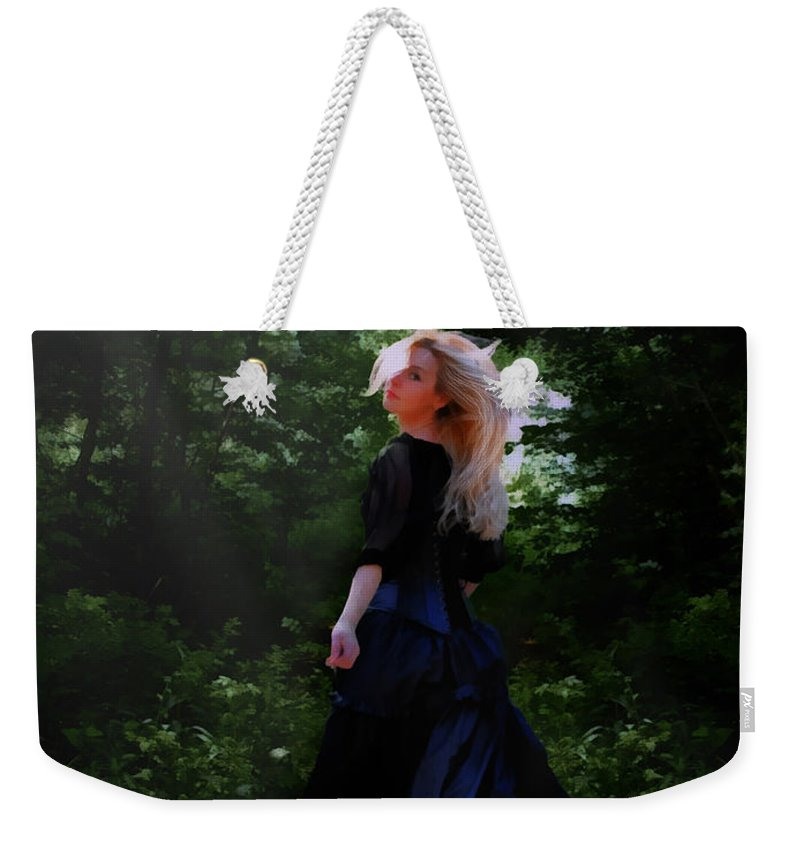 Goth Weekender Tote Bag featuring the digital art Moonlight Calls Me by Nikki Marie Smith