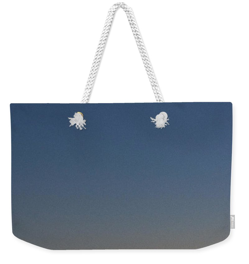 Moon Weekender Tote Bag featuring the photograph Moonlight Soliloquy by Darleen Stry
