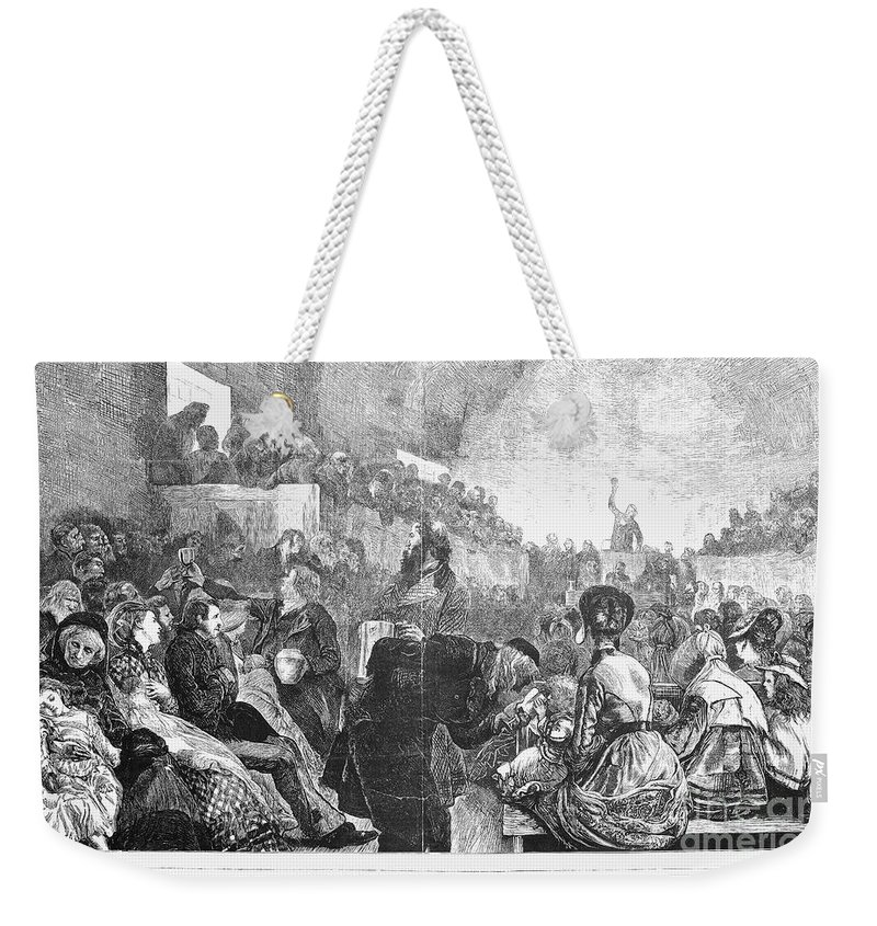 1871 Weekender Tote Bag featuring the photograph Mormon Service, 1871 by Granger