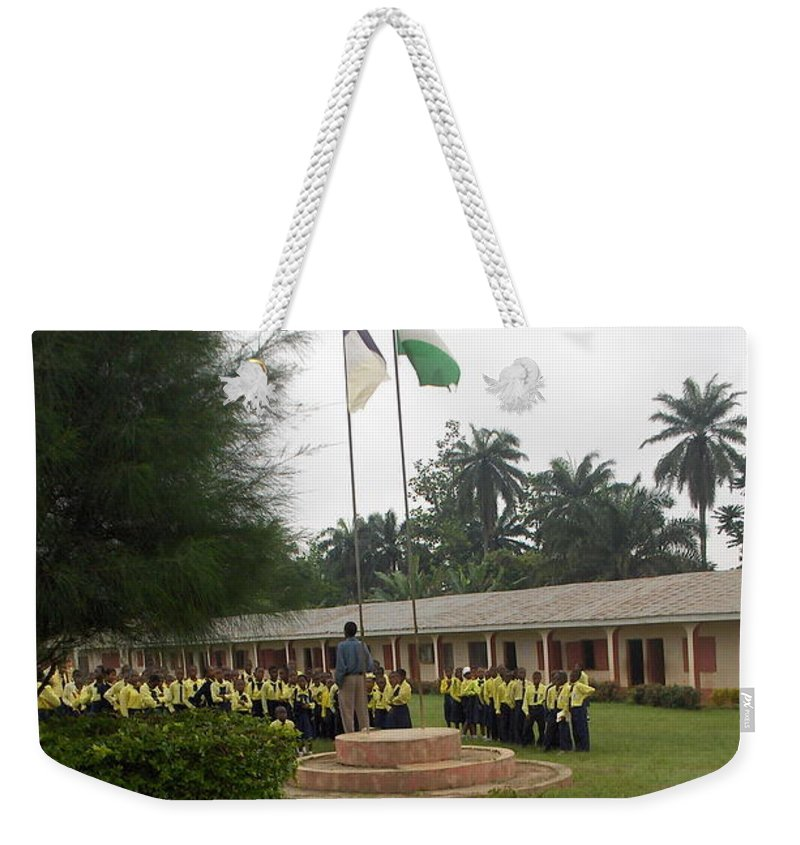 School Weekender Tote Bag featuring the photograph Morning Asembly by Amy Hosp