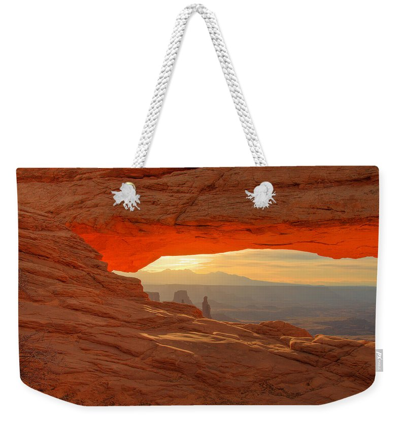 Scenic Weekender Tote Bag featuring the photograph Morning Light by Jean Noren