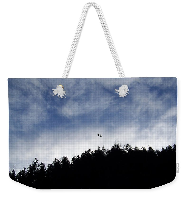 Sky Weekender Tote Bag featuring the photograph Morning Sky by Ernie Echols