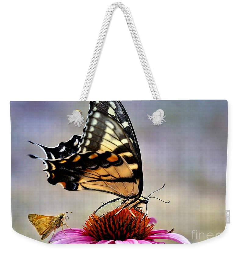 Nature Weekender Tote Bag featuring the photograph Morning Snack by Nava Thompson