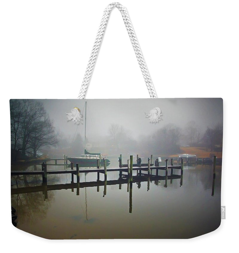 2d Weekender Tote Bag featuring the photograph Morning Stillness by Brian Wallace