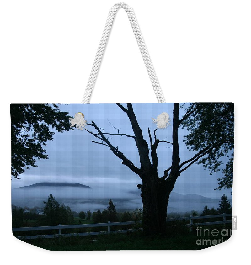 Sunrise Weekender Tote Bag featuring the photograph Morning Wake by Neal Eslinger