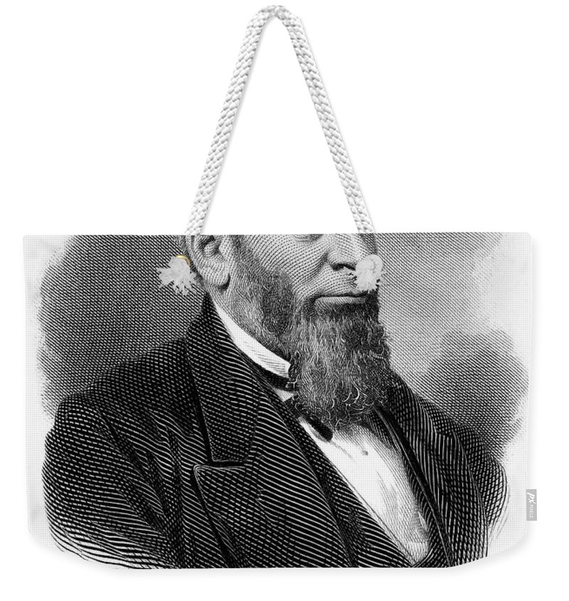 19th Century Weekender Tote Bag featuring the photograph Morrison R. Waite (1816-1888) by Granger