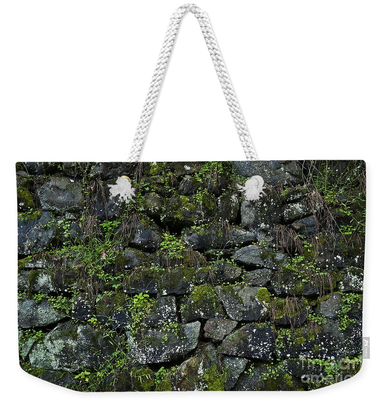 Abstract Weekender Tote Bag featuring the photograph Moss And Stone by John Greim