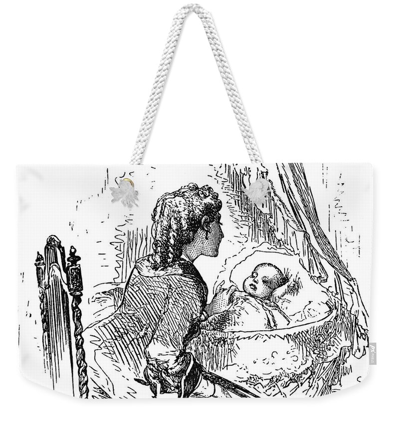 1873 Weekender Tote Bag featuring the photograph Mother And Child, 1873 by Granger