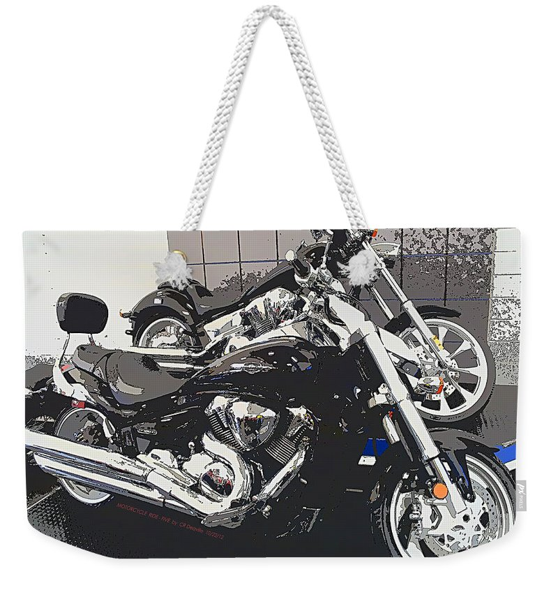 Motorcycle Weekender Tote Bag featuring the photograph Motorcycle Ride - Five by Carl Deaville