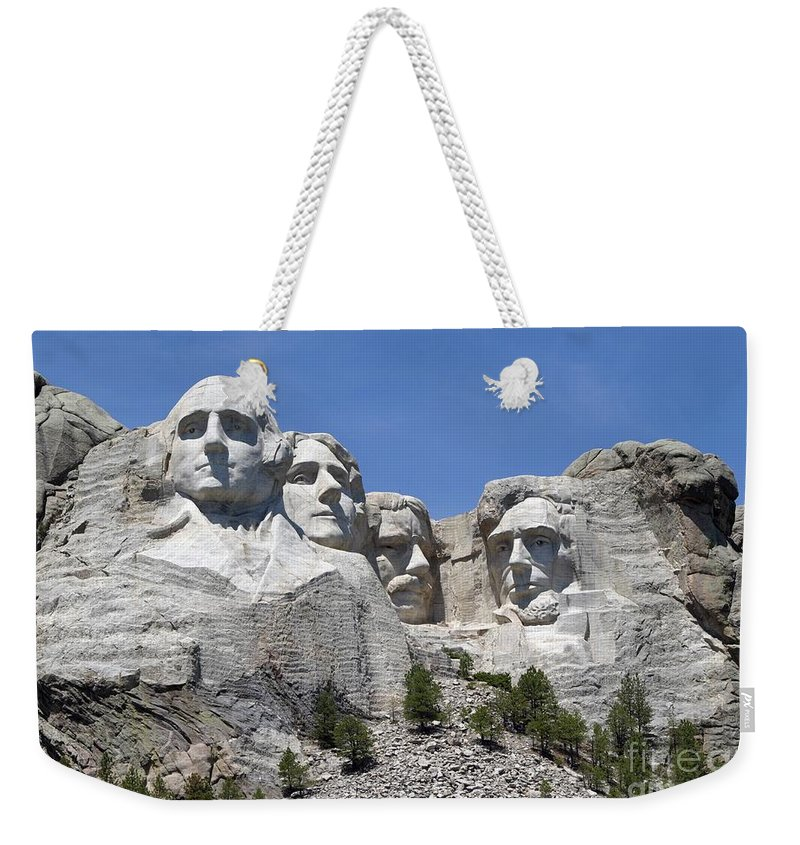 Mount Rushmore Weekender Tote Bag featuring the photograph Mount Rushmore by Living Color Photography Lorraine Lynch