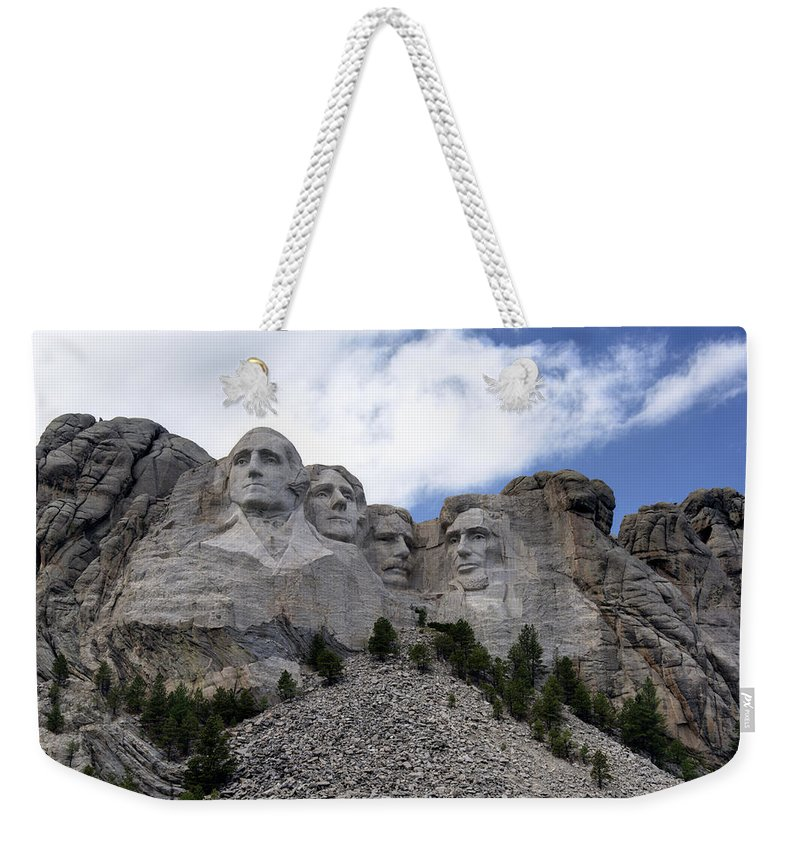 Mount Rushmore National Monument Weekender Tote Bag featuring the photograph Mount Rushmore National Monument -2 by Paul Cannon