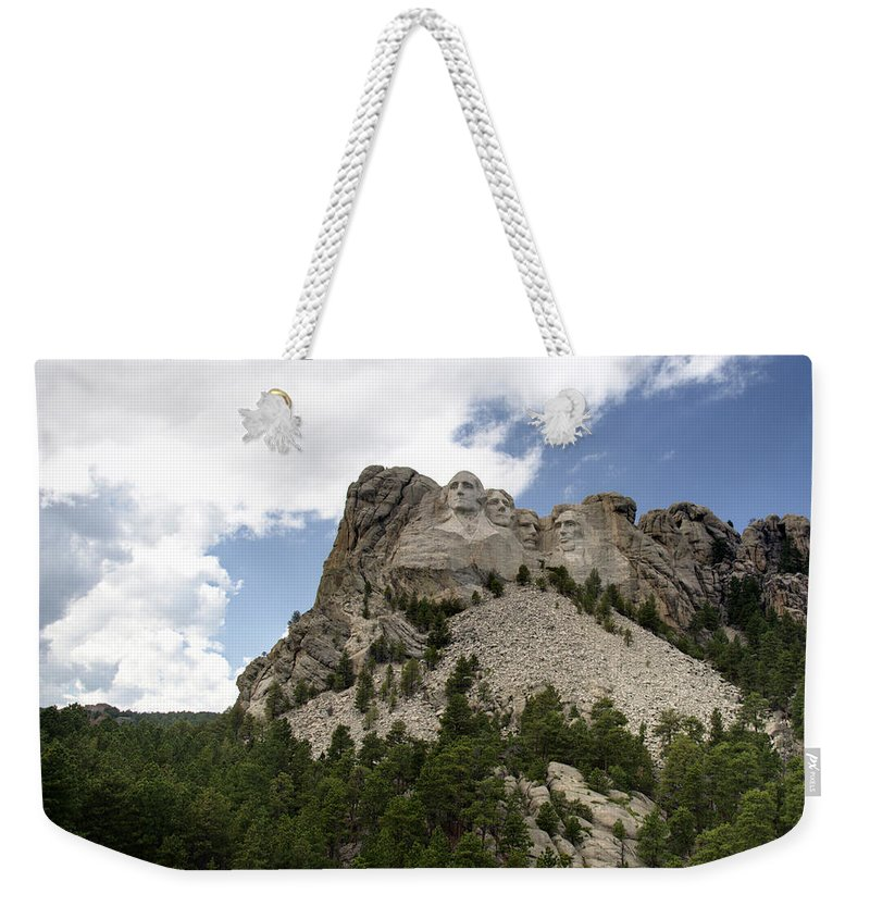 Mount Rushmore National Monument Weekender Tote Bag featuring the photograph Mount Rushmore National Monument -3 by Paul Cannon