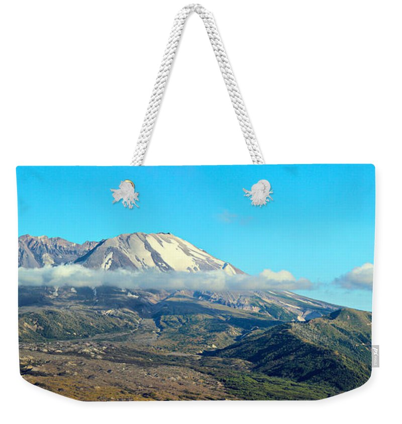 Blue Weekender Tote Bag featuring the photograph Mount St Helens And Castle Lake by Paul Fell