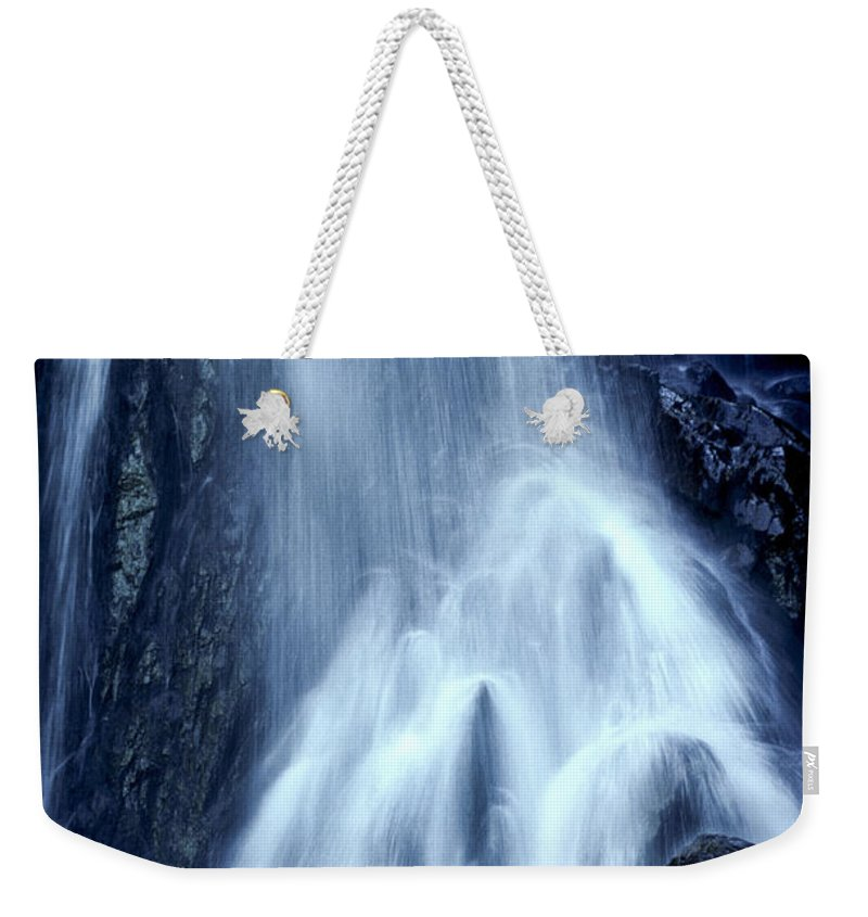 Mt. Zirkel Weekender Tote Bag featuring the photograph Mountain Waterfall Colorado by Boyd Norton