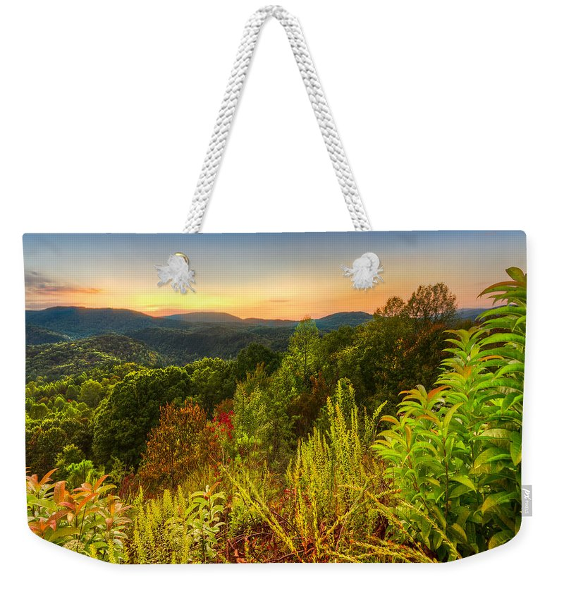 Appalachia Weekender Tote Bag featuring the photograph Mountainside by Debra and Dave Vanderlaan