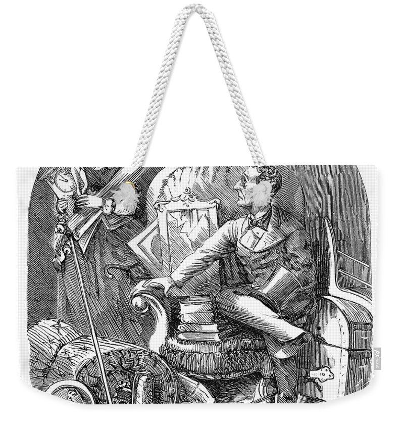 1870 Weekender Tote Bag featuring the photograph Moving Day, 1870 by Granger