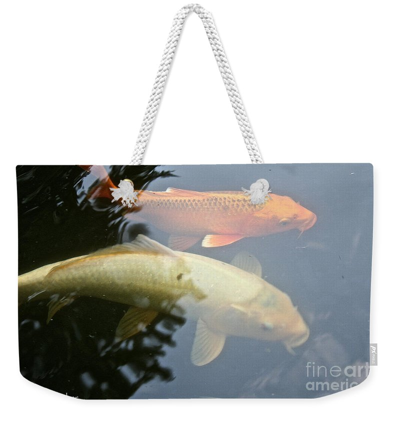 Outdoors Weekender Tote Bag featuring the photograph Mr And Mrs Koi by Susan Herber